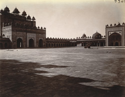 General view looking south-west across the courtyard of the Jami Masjid, Fatehpur Sikri